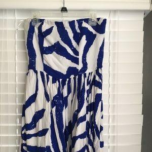 Aqua strapless dress xs